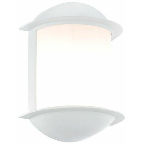7 vatios LED del punto ligero de la pared de la lámpara Jardín Balcón de aluminio fundido blanco, 1 luz EEK A + Eglo 78058