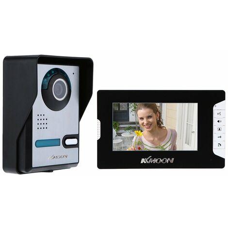 """7"""" Visiophone Tft ecran Lcd Unlock Ir Night Vision Securite Antipluie Accueil"""