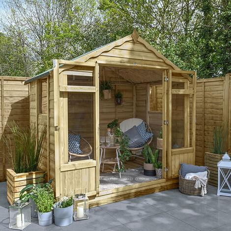 "main image of ""7' x 5' Forest Oakley Wooden Garden Summerhouse (2.3m x 1.5m)"""