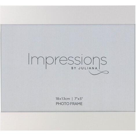 "main image of ""7"" x 5"" - IMPRESSIONS Brushed Silver Slide Photo Frame"""