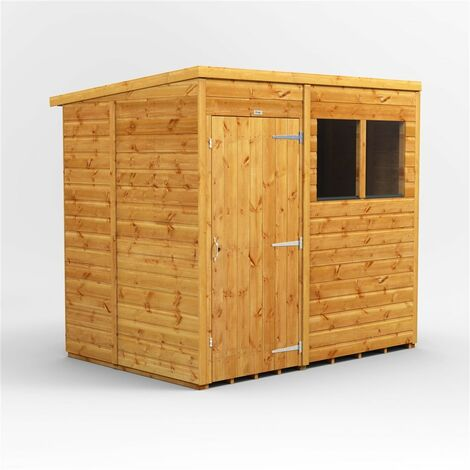 7 x 5 Premium Tongue And Groove Pent Shed - Single Door - 2 Windows - 12mm Tongue And Groove Floor And Roof
