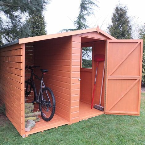7 x 6 Tongue And Groove Apex Shed With Log Store (CORE)