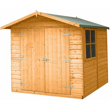 7 x 7 Alderney Shiplap Shed with Double Doors