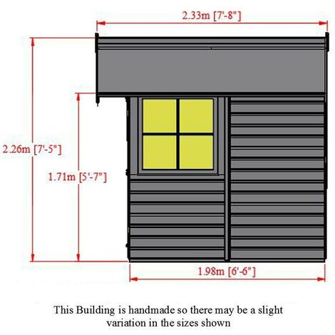 7 x 7 Barn Shed With Double Doors