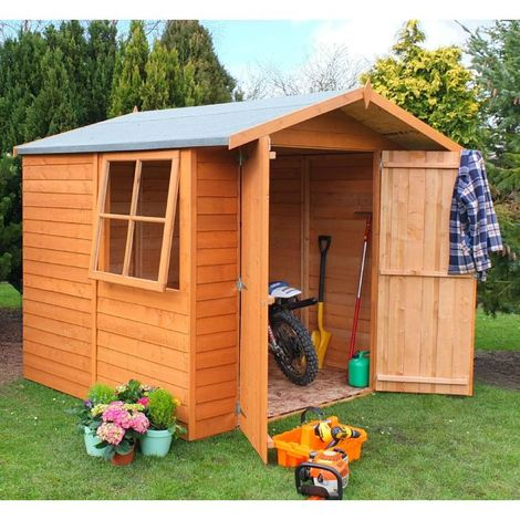7 x 7 Overlap Shed with Double Doors