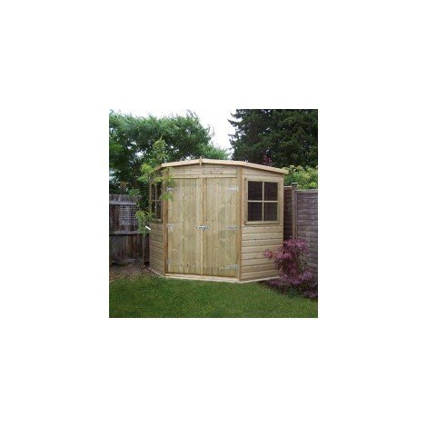 7 x 7 Pressure Treated Corner Shed
