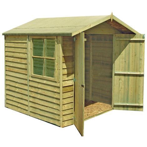 7 x 7 Pressure Treated Overlap Shed