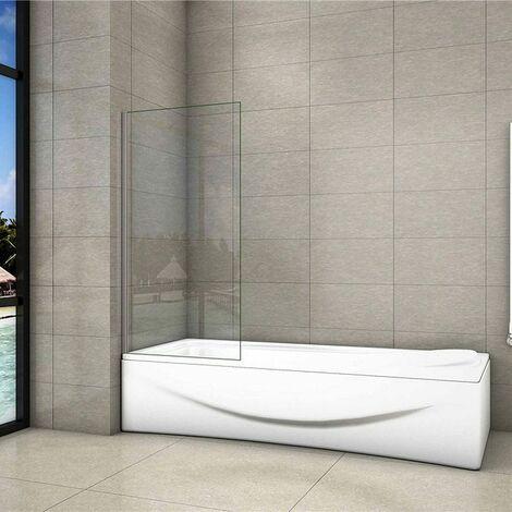 70/75/80 x140cm Duschtrennwand 6mm ESG NANO glas Badewannenaufsatz Faltwand