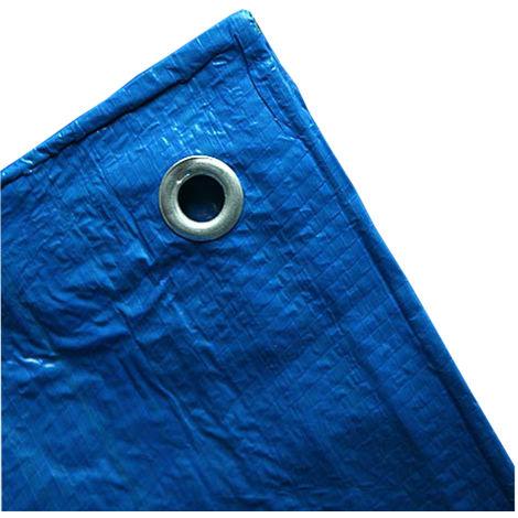 70 g/m² blau Gewebeplane in verschiedenen Grössen wählbar