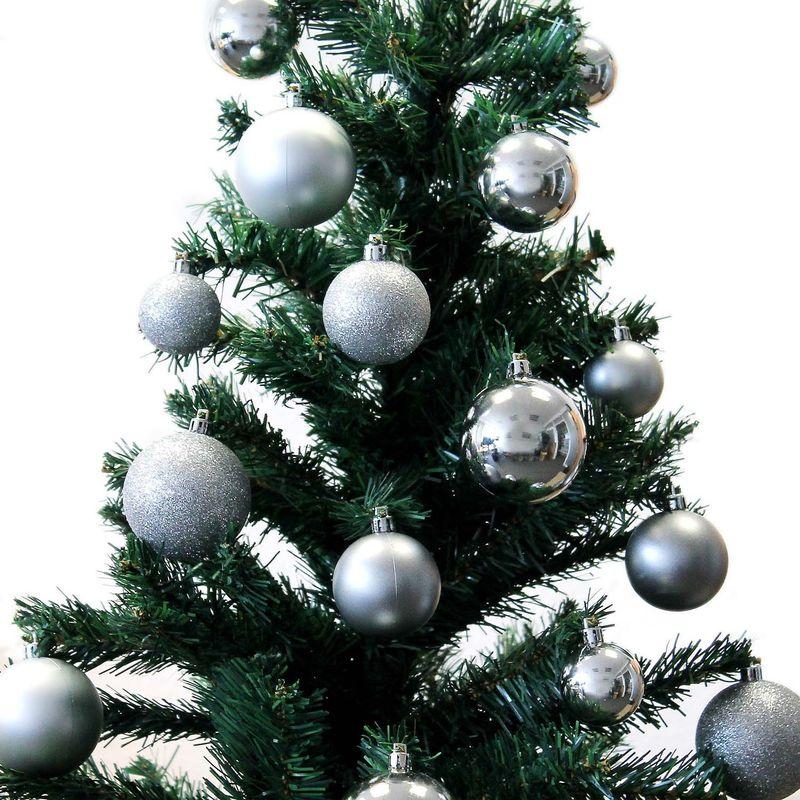 Aufbewahrungsbox Christbaumkugeln.70 Stuck Christbaumkugeln Inklusive Aufbewahrungsbox Silber O4 5 6cm Weihnachtsbaumkugeln Baumkugeln Tannenbaumschmuck Weihnachtsdekoration
