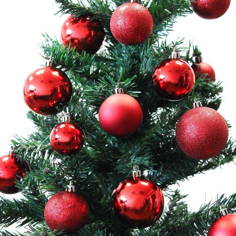 Aufbewahrungsbox Christbaumkugeln.70 Stuck Weihnachtsbaumkugeln Set O4 5 6cm Rot Inklusive Aufbewahrungsbox Christbaumkugeln Baumkugeln Tannenbaumschmuck Weihnachtsdekoration
