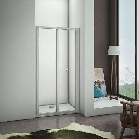 700/760/800/860/900/1000mm Bifold Shower Enclosure 5mm Glass Door Walk In Cubicle BRM