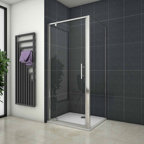 700/760/800/900/1000mm Pivot Shower Door Enclosure Cubicle with Side Panel