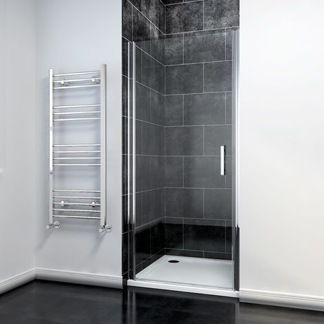 700mm Frameless Pivot Shower Door Enclosure 6mm Safety Glass Reversible Shower Cubicle Door