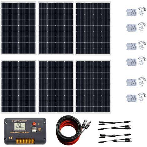 700Watt 24V panneau solaire kit complet 18V PV panneau solaire contrôleur 20A pour la maison