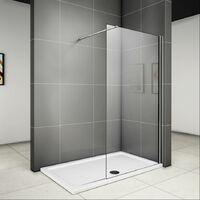 700x1950x6mm paroi de douche walk in verre anticalcaire avec barre fixation la pince 360¡ã 1400mm
