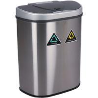 70L 2 in 1 Sensor Recycling Bin