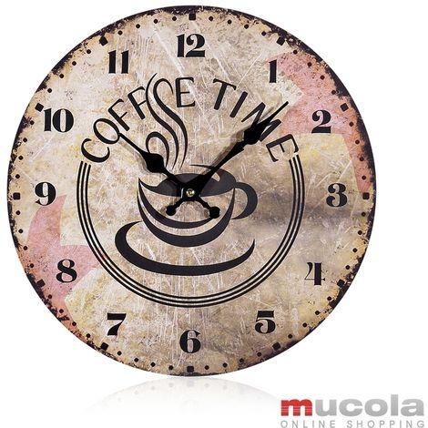 70x30 cm horloge murale horloge déco design horloge ronde horloge de cuisine horloge en bois horloge moderne antique