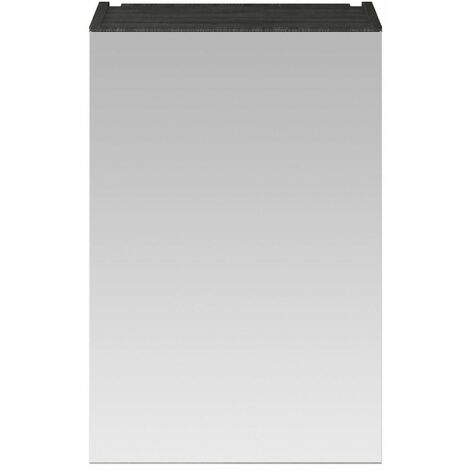 715 x 450 Bathroom Mirror Cabinet Wall Mount Black Storage Cupboard Single Door