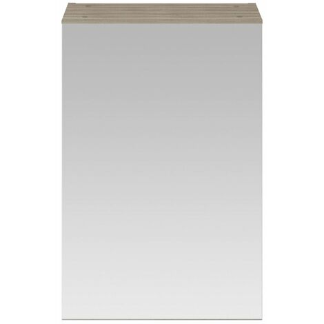 715 x 450mm Bathroom Mirror Cabinet Wall Mounted Driftwood Storage Cupboard