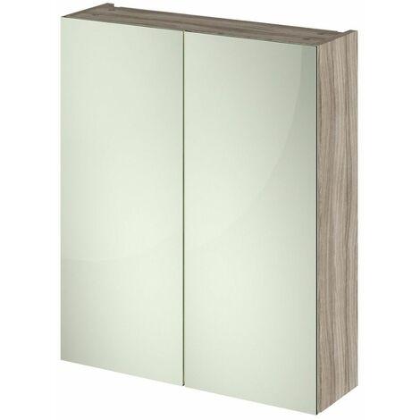 715 x 600mm Bathroom Mirror Cabinet Wall Mounted Driftwood Storage Cupboard