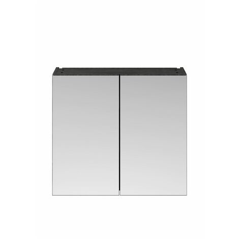 715 x 800mm Bathroom Mirror Cabinet Wall Mounted Storage Cupboard Double Door