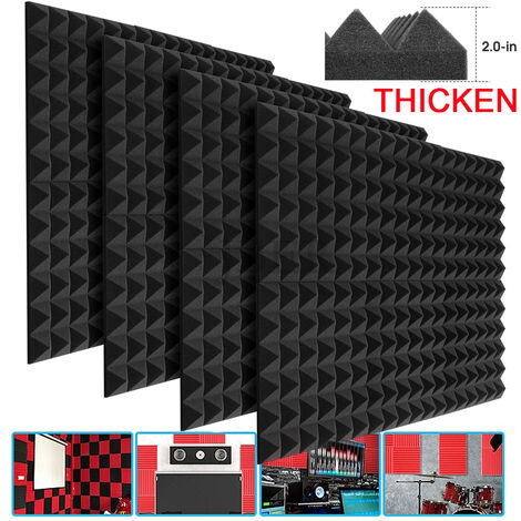 """main image of """"72/24/12/6/1pc Durable Acoustic Foams 30x30x2.5cm/30x30x5cm Wedge Foam Tiles Wall Panels Sound insulation Foam Studio Wall Tiles for KTV, Studio,Home Offices"""""""
