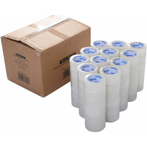 72 BIG ROLLS CLEAR STRONG PARCEL SEALING PACKING TAPE SELLO CELLO 50MM x 100M