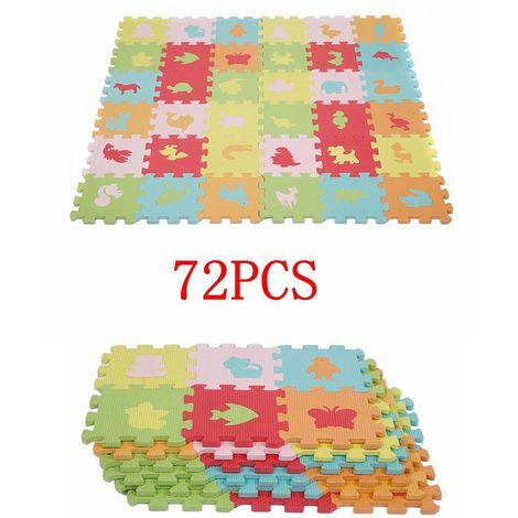 72 * EVA Puzzle Tapis De Jeu Enfants Apprentissage Tapis De Sol Jouer Jouet Animaux Tapis Top Qualité