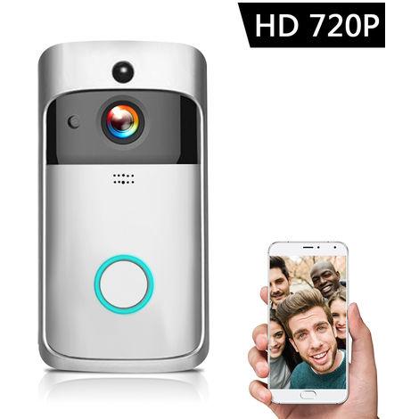 720P HD inalambrico de intercomunicacion video WI-FI videointerfono, Plata
