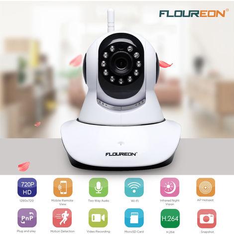 720P HD WIFI Sans Fil IP Caméra Sécurité CCTV ONVIF Vidéo Surveillance CMOS IR