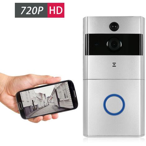 720P Wifi Sonnette Interphone Six D'Argent De La Lampe Infrarouge