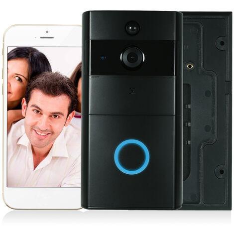 720P Wifi Sonnette Interphone Six Noir Lampe Infrarouge Integree Carte Memoire 8G