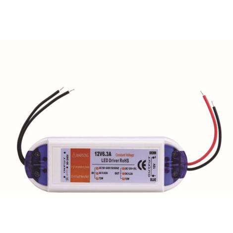 72W Compact LED Driver AC 230V to DC12V Power Supply Transformer
