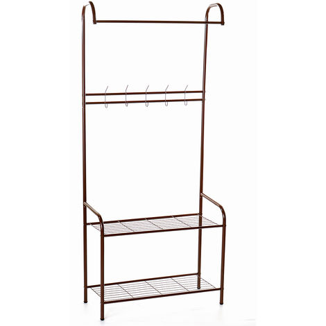 72X32X165Cm Metal Clothes Garment Rack Rack Clothes Clothing Clothes Stand Rack Storage Shelf Hanger Space Saving