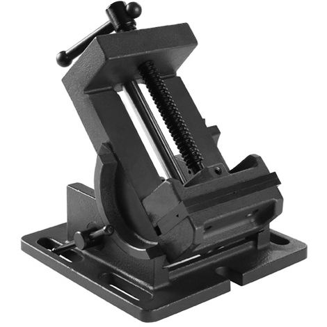 75 mm Tornillo de banco inclinable (75 mm Ancho de la mordaza, 80 mm Envergadura, Inclinable 90°, Acero fundido)