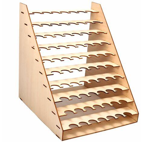 75 pots de peinture en bois bouteilles de stockage support de support organisateur modulaire de couleur de mast er