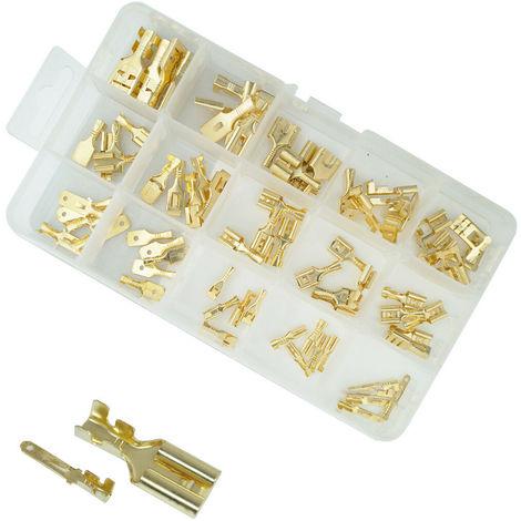 Knipex 97 21 215 C Pinza di crimpaggio per terminali non isolati maschi e femmina