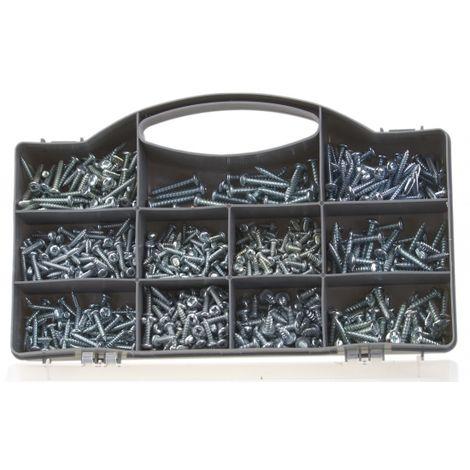 750 teiliges Schrauben Sortiment Flachkopfschrauben selbstschneidend