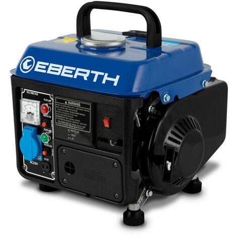 750 W Generador de corriente (Motor de gasolina de 2 tiempos y 2 CV, Refrigerado por aire, 1x 230 V, 1x 12 V, Arranque rectractil, Voltímetro) Grupo electrógeno