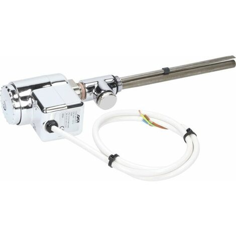 750 x 450mm Heated Towel Rail Dual Fuel Anthracite Thermostatic Flat 12 Rails