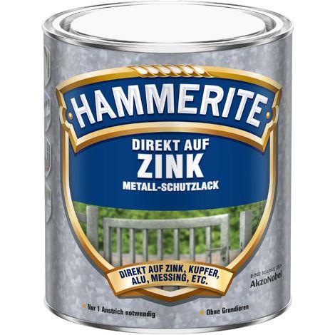 750ml Hammerite DIREKT AUF ZINK silber