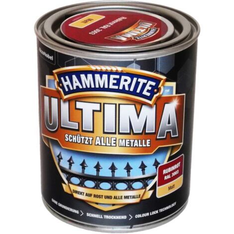 750ml Hammerite ULTIMA MSL matt Rubinrot