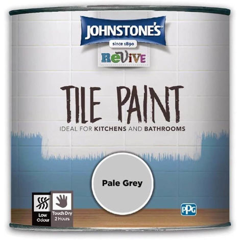 750ml Johnstones Revive Tile Paint Pale Grey
