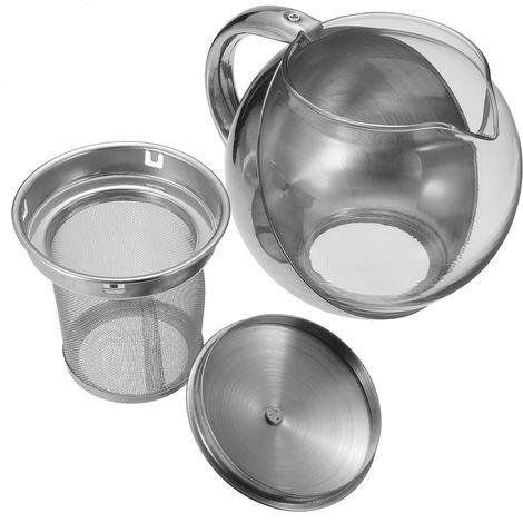 750Ml Teapot Kettle With Fine Herb Mesh Filter Pot Health Drink Leaf Hasaki