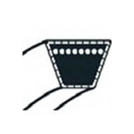 754-04190 - Courroie de coupe pour tondeuse autoportée MTD coupe 76cm