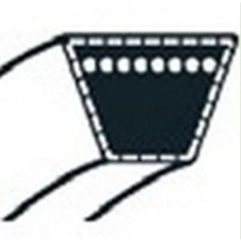 754-0474 - Courroie de coupe pour tondeuse autoportée MTD Coupe 117cm Ejection Latérale (15,9x2565mm)