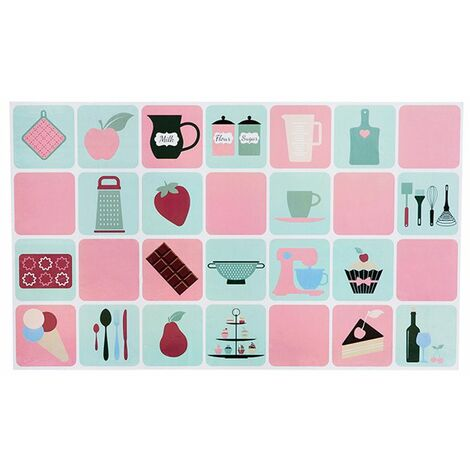 75*45 Aluminum Foil Wallpaper Kitchen Bathroom Self-adhesive Stickers Waterproof Wall Tile Stickers Kitchen Oil-proof Wall Paper pink