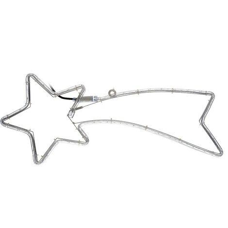 757228 Estrella fugaz de navidad con luces efecto cálido y con marco métalico