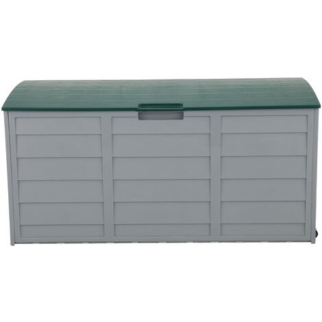 75gal 260L Outdoor Garden Plastic Storage Deck Box Chest Tools Cushions Toys Lockable Seat - Different colours